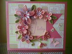 Handmade Pink Paper Quilling Baby Girl por FromQuillingWithLove, $8.35