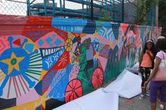 Three color-splashed community murals that show the transformative power of art to better the lives of underprivileged kids have been unveiled in Harlem over the past month.