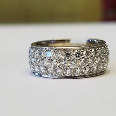Diamonds are forever.  💎💎💎 #diamond #band #closeup #sparkle #jewelrygoals #bling #instajewelry #lux #schomburgs #shopsmall #shoplocal #familybusiness #columbusga #jewelers #april #birthstone #happybirthday #happyanniversary