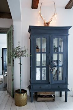 Blue armoire cabinet