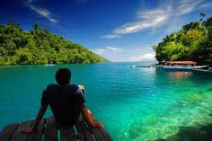 Sulamadaha Beach, Maluku, Indonesia