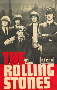 "The Rolling Stones ⋅ "" Promo poster for the gig in L'Olympia, Paris in 1965 "" artwork & photo: Pierre Fouf"