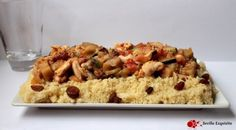 Cuscús con pollo y verduras
