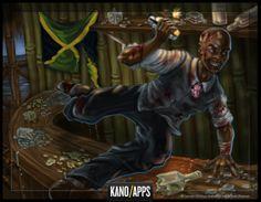 Zombie Slayer, Bartender Boss.  #kanoapps #conceptart #gameart #boss #zombie #cocktails #digitalart #zombieslayer Zombies, Game Art, Layering, Concept Art, Cocktails, Apps, Halloween, Fictional Characters, Conceptual Art