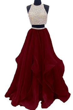 Two Piece Floor Length Burgundy Prom Dress Beaded Open Back Evening Gown Open Back Prom Dress, Burgundy Evening Dresses, Prom Dress Two Piece, Prom Dress Prom Dresses 2019 Prom Dress Two Piece, Two Piece Evening Dresses, Burgundy Evening Dress, Open Back Prom Dresses, A Line Prom Dresses, Grad Dresses, Quinceanera Dresses, Evening Gowns, Dress Prom
