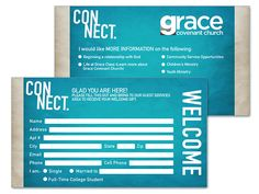 Core Values Church Connection Card Template  FontsLogosIcons