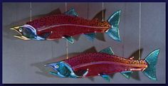 Sockeye Fish - Glass Art by Mark Ditzler Glass Studio