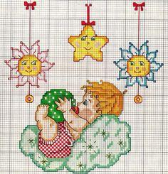 Baby 123 Cross Stitch, Baby Cross Stitch Patterns, Cross Stitch For Kids, Baby Embroidery, Cross Stitch Embroidery, Tissue Box Covers, Doll Patterns, Cross Stitching, Needlework