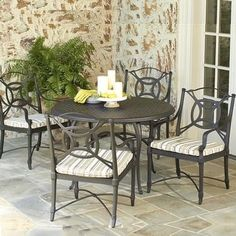 Isla Aluminum Dining Set by Woodard Isla Mujeres can be found at the easternmost point of Mexico. Family Leisure, Outdoor Tables, Outdoor Decor, What's Trending, Mid-century Modern, Outdoor Furniture Sets, Mid Century, Patio, Dining