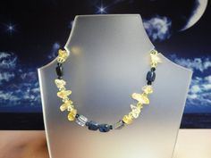 Blue and Gold Bracelet by joolrylane on Etsy, $25.00