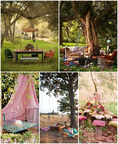 Do you want having a garden like no one else in your neighborhood? What about a garden with a Bohemian style ? Look at those ideas, a bohemian garden seems to be the best place to relax and enjoy outside!