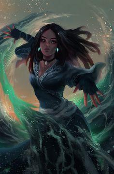 Fanart of Katara as a young adult Avatar Aang, Avatar Airbender, Team Avatar, Zuko And Katara, Fantasy Character Design, Character Inspiration, Character Art, Fantasy Characters, Female Characters