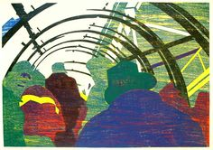 Centre Pompidou II woodcut cm www. Ink, Texture, Html, Prints, Painting, Graphics, France, Outer Space, Dish