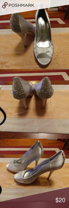 Camille wedding prom evening silver shoes Camille wedding prom evening silver shoes camille la vie Shoes Heels