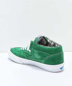 d4363db25a Vans Half Cab Pro Barbee Green Skate Shoes