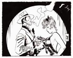 Torpedo 1936 by Jordi Bernet Black Comics, Bd Comics, Art And Illustration, Comic Book Characters, Comic Books Art, Dibujos Pin Up, Character Art, Character Design, Comic Book Layout