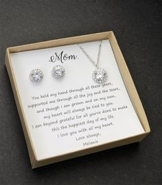 Mom Gifts Discover Mom gift set Custom Mother of the groom set Mother of the bride set Bridal jewelry set Mothers gift Mother in law Mother Of The Groom Necklaces, Mother Of The Groom Gifts, Mother In Law Gifts, Mother Of The Bride, Gifts For Mom, Grooms Mother Gift, Gifts For Wedding Party, Parent Wedding Gifts, Wedding Ideas