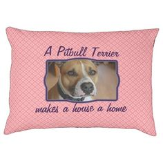 Pink pattern customized dog bed. Add your own picture and text!