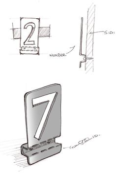 Design: Bent Metal House NumbersMaterials: Stainless Steel, Plain SteelDesigners: Jonah and Mackenzie Griffith Led Sign Board, Signage Board, Metal Sheet Design, Directory Signs, Cladding Design, Metal House Numbers, Wayfinding Signs, Sign System, Diy Simple
