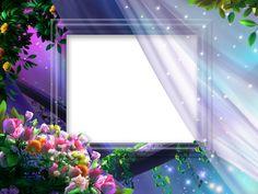 Beautiful Night Flowers Transparent Princess Photo Frame