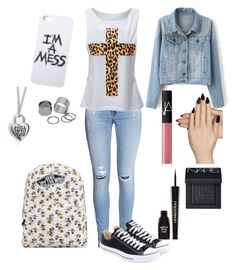 """""""Back to school #7"""" by xxx5saucexxx ❤ liked on Polyvore featuring H&M, Converse, Vans, LAUREN MOSHI, NARS Cosmetics, Static Nails, Napoleon Perdis and Pieces"""