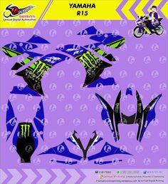 Custom Decal Vinyl Striping Motor Full Body Yamaha R15 Thema Monster Energy Berkualitas by DIGITIVE #DecalVinylStripingMotorFullBody #DIGITIVE #KreatifitasLeMuel #LeMuel #ProdukProdukKreatifLeMuel #StripingMotorFullBody #StripingMotorSemarang #StripingMotorYamahaR15