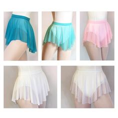 Royall Dancewear--Be sure to pick up some of our fun and bright lightweight mesh SAB skirts for summer dance classes! Pictured: Peacock, Aquamarine, Pink, White, and White Swiss Dot. Which is your favorite? Dance Costumes Lyrical, Tutu Costumes, Summer Skirts, Summer Dresses, Dope Outfits, Fashion Outfits, Ballet Wear, Ballet Clothes, Surprise Dance