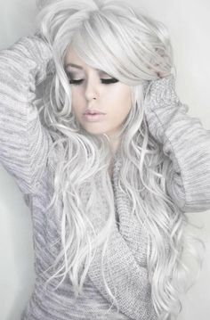 When I get old I want my hair to look like this.