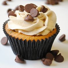 Chocolate Chip Cookie Dough Cupcakes and a new blog feature: From Invitations to Dessert!