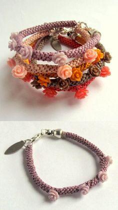 DIY Kumihimo Rosette Bracelet This tutorial is more for how... | TrueBlueMeAndYou: DIYs for Creative People | Bloglovin'
