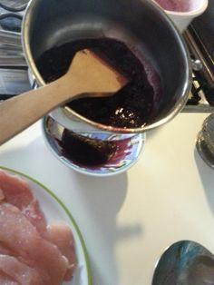 Riduzione di vino rosso - Reduccin de vino tinto para carne
