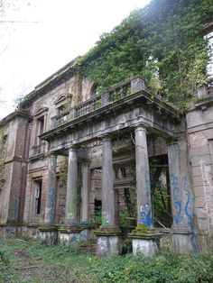 Baron Hill Mansion, Beaumaris, Anglesey, Wales. Originally built in 1618, the mansion and gardens have been abandoned since World War II.