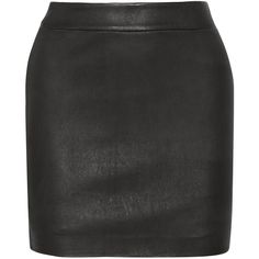 T by Alexander Wang Stretch-leather skirt (10,560 THB) ❤ liked on Polyvore featuring skirts, mini skirts, bottoms, faldas, saias, black, stretch mini skirt, t by alexander wang, stretch leather skirt and mini skirt