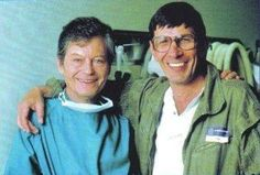 Leonard Nimoy and DeForest Kelly in The Voyage Home