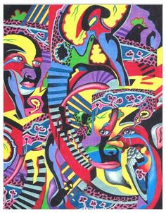 """""""The Three Disguises of an Abstract Thought"""" from my mind art drawing collection in colored pencil."""