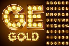 Old lamp alphabet by popskraft lab on Creative Market