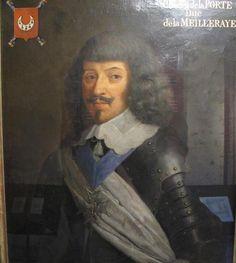 Charles II de La Porte, Marquis puis 1er. Duc de La Meilleraye, Duc de Rethel, Baron de Parthenay et de Saint-Maixent, Maréchal & Pair de France (1602-1664), Chevalier des Ordres, Lt.-Gal. des Armées, Grand Maître de l'Artillerie, Surintendant des Finances de France.  Marié a Marie Coiffier de Ruzé d'Effiat, fille du Maréchal d'Effiat, puis a Marie de Cossé-Brissac.