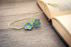 Sweet crochet bookmark