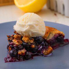 Easy Desserts, Delicious Desserts, Dessert Recipes, Yummy Food, Galette Recipe, Blueberry Desserts, Think Food, C'est Bon, Quiches