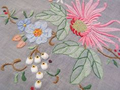 Vintage Antique EMBROIDERED MARGHAB MADEIRA Tablecloth 105X67 | eBay