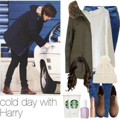 cold day with Harry by hannie-t on Polyvore featuring moda, SAM., Topshop, H&M, Minor Obsessions, Warehouse, Charlotte Tilbury and Essie