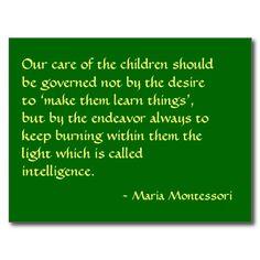 Maria Montessori Quote No. 1 Post Card