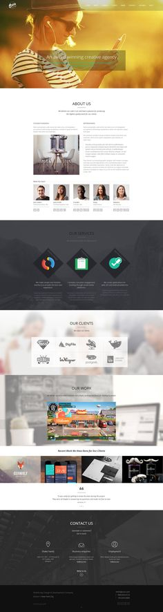 Szia - Responsive Wordpress One Page Portfolio on Behance