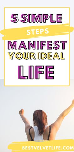 5 steps to manifesting your ideal life. How to use the law of attraction to manifest abundance, success, money and more. Manifest everything you want. #raiseyourvibration #manifestabundance Yoga To Relieve Stress, Release Stress, Get What You Want, To Manifest, Stress And Anxiety, Change The World, Live For Yourself, Simple Way, Law Of Attraction