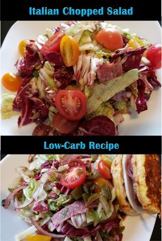 Chopped Italian Salad - low-carb version of your favourite sub sandwich! Antipasto in salad form! Italian Chopped Salad, Italian Salad, Antipasto Salad, Salads, Low Carb Recipes, Healthy Recipes, Health And Nutrition, Italian Recipes, Lunch