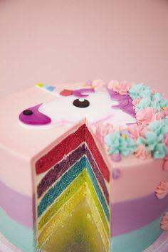 einhorn regenbogentorte kindergeburtstag feiern ideen