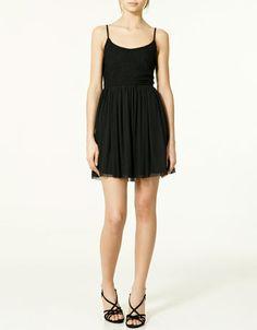 black tulle dress.