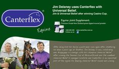 After being told his horse would never race again after shattering his knee 4 years ago at Grafton. Jim Delaney is now celebrating over $200,000 in winnings with his champion Universal Belief after winning the Denman Cup at Muswellbrook over the weekend. Universal Belief is managed carefully and Canterflex is an important part of the regime for keeping Universal Belief sound and winning.