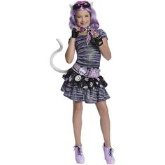 Monster High Costumes | Rubies Monster High Catrine DeMew Child Halloween Costume - Walmart ...