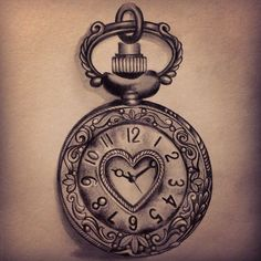 What does pocket watch tattoo mean? We have pocket watch tattoo ideas, designs, symbolism and we explain the meaning behind the tattoo. Tattoo Drawings, Body Art Tattoos, New Tattoos, Tatoos, Clock Drawings, Pencil Drawings, Piercing Tattoo, I Tattoo, Small Tattoo